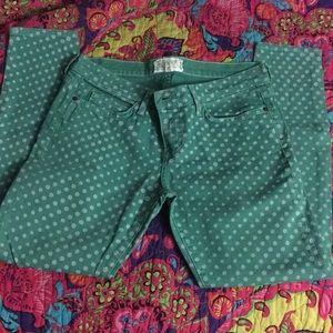 Current/Elliott stiletto polka dot jeans sz 28